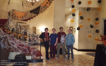 My son and his friends who helped with decor and were the ushers for the night